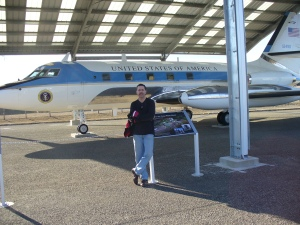 LBJ used this small Air Force One so he could land at the ranch.