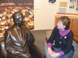 "Having a ""chat"" with one of my favorite presidents!"