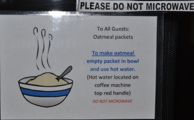 Thou shalt not microwave oatmeal!
