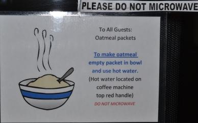 Thou shalt not microwave oatmeal!
