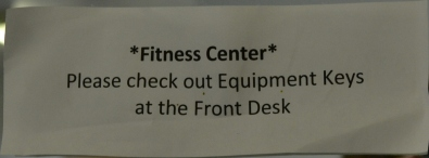 Because you wouldn't want it to be available in the fitness center.