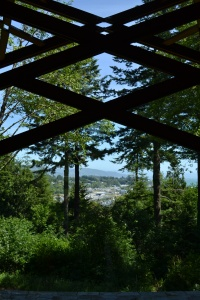 Through a window at Capella By The Sea, Azalea Park, Brookings OR