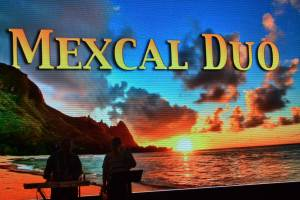Our dance venue of choice - the Deck 5 atrium with the Mexcal Duo
