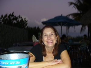 Deb after the first margarita!