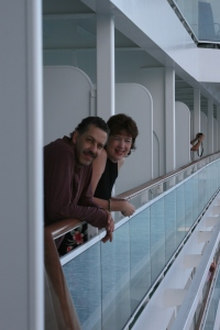 The balcony, our favorite part of the ship!