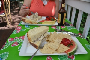 Chicken Salad Sandwich on Amish Bread, The Garden Bisto. Eureka Springs AR