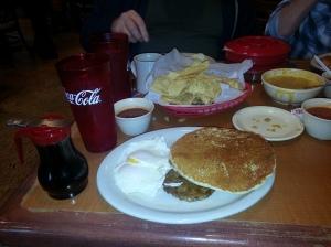 The Pancake Plate, Amaya's Taco Village, Austin TX