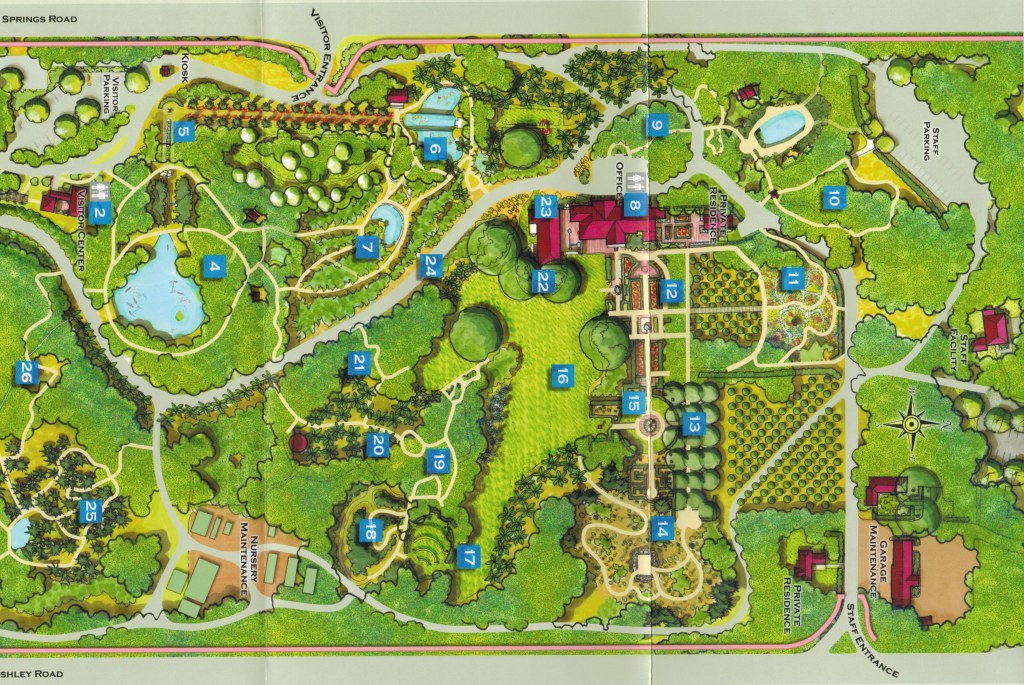 Lotusland Map, Santa Barbara CA