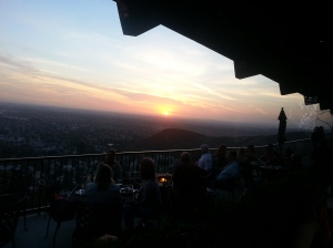 Sunset from Orange Hill Restaurant