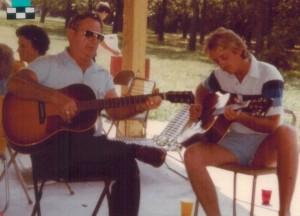 Uncle Al and Gene Alton at a family reunion.