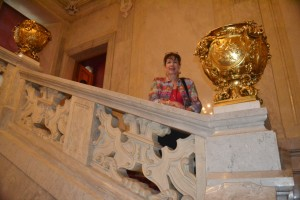 In between the wonders of the Imperial Apartments