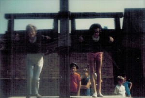 Mom & I in the stocks. Yes I'm the one in the tri-corn hat.