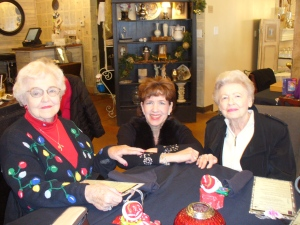 Mom and I with Eddie Jo, one of Mom's dear Lakeside friends.