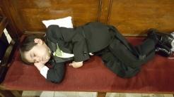 Daniel takes a nap