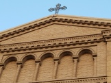 A cross atop the church