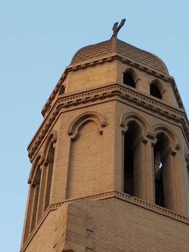 One of the church's towers