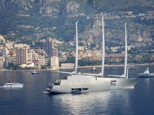 Yacht in Monaco Harbor