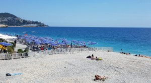 The Beach at Nice, France